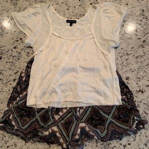 White Limited Lace Crop Top